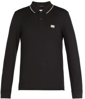 C.P. Company Long Sleeved Cotton Blend Polo Shirt - Mens - Black