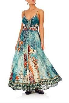 Camilla Her Heirloom Long Dress W/ Tie Front