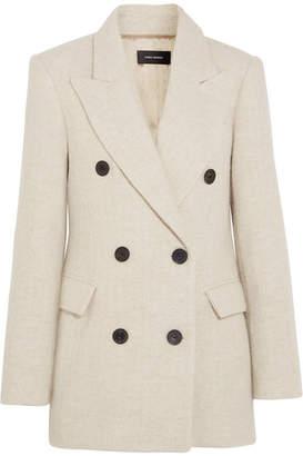 Isabel Marant - Eley Wool And Alpaca-blend Coat - Ecru $1,090 thestylecure.com