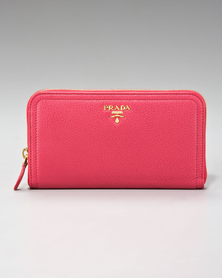 Prada Vit Daino Zip-Around Wallet