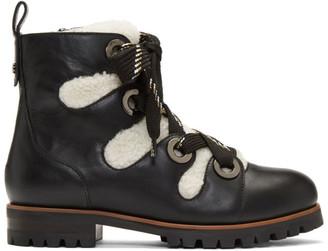 Jimmy Choo Black Bei Flat Boots