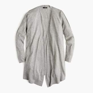 J.Crew Merino wool high-low cardigan sweater