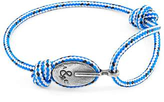 ANCHOR & CREW - Blue Dash London Silver & Rope Bracelet