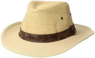 San Diego Hat Company Raffia Crown w/ Canvas Brim Caps