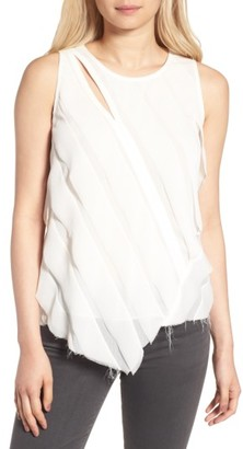 Women's Trouve Raw Edge Tank $79 thestylecure.com