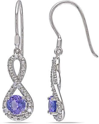 JCPenney FINE JEWELRY Genuine Tanzanite & Diamond Infinity Earrings