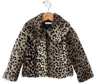 f6cd5e76ef76 Alice + Olivia Girls' Faux fur Animal Print Jacket