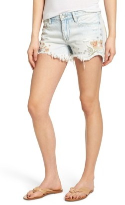 Women's Blanknyc Embroidered Denim Shorts $98 thestylecure.com