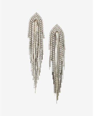Express Rhinestone Fringe Drop Earrings $26.90 thestylecure.com