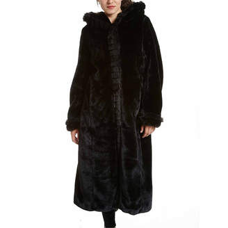 Excelled Leather Excelled Faux-Fur Long Solid Coat