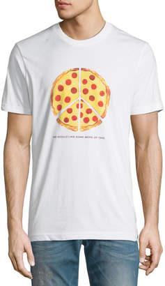 Wesc Men's Max Peace Pizza Graphic T-Shirt
