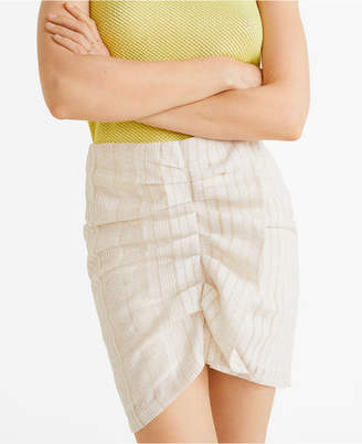 MANGO Ruched Detail Skirt