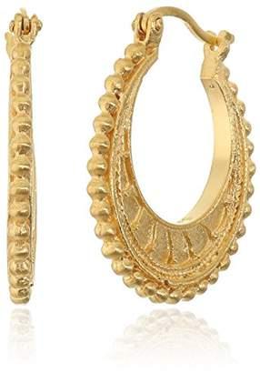 Satya Jewelry Mandala Hoop Earrings