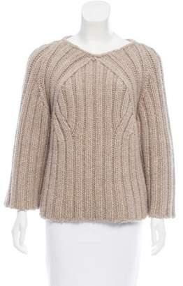 Derek Lam Rib Knit Scoop Neck Sweater