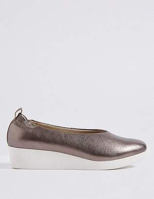 Marks and Spencer Leather Wedge Ballerina