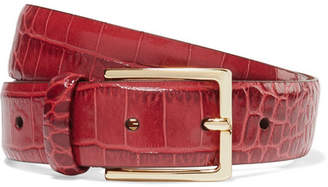 Andersons Anderson's - Croc-effect Leather Belt - Red