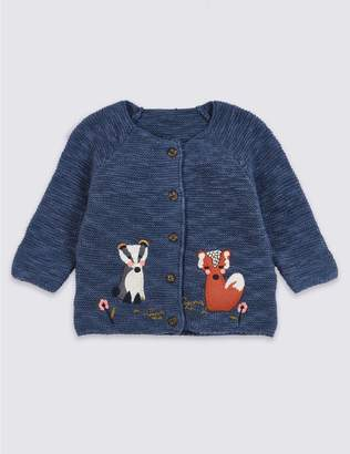 Marks and Spencer Animal Applique Knitted Cardigan