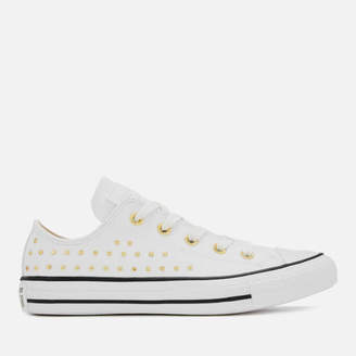1032f0f85500 at Allsole · Converse Chuck Taylor All Star Ox Trainers - White Gold