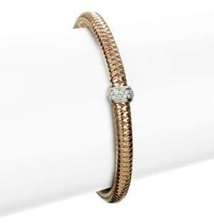 Roberto Coin Primavera Diamond& 18K Rose Gold Woven Bracelet