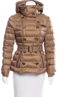 Burberry Brit Down-Filled Puffer Coat $445 thestylecure.com