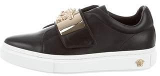 Versace Pointed-Toe Medusa Sneakers