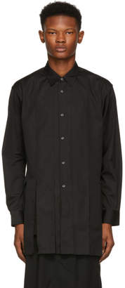 Comme des Garcons Black Cut-Out Strips Shirt