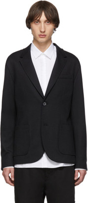 Lanvin Black Double-Faced Jersey Blazer