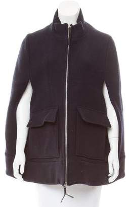 Marni Wool Zip-Front Cape