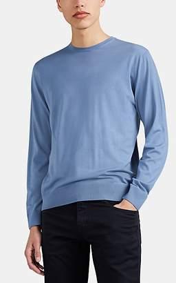Prada Men's Virgin Wool Crewneck Sweater - Blue