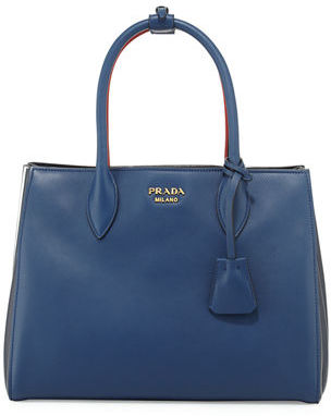 Prada Bibliothèque Medium Colorblock Tote Bag $2,400 thestylecure.com
