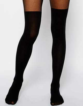 Asos Design DESIGN mock over the knee tights with bum and tum support
