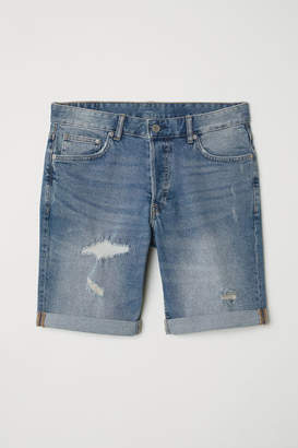 H&M Slim Denim Shorts - Blue