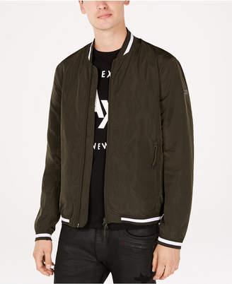Armani Exchange Men's Contrast Trim Baseball Jacket