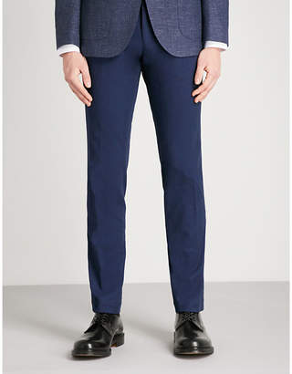 BOSS Regular-fit straight stretch-cotton trousers