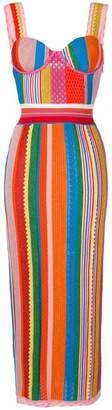 Moschino striped long dress