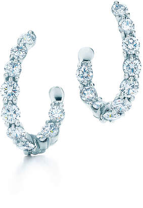 Tiffany & Co. Inside-out hoop earrings of diamonds