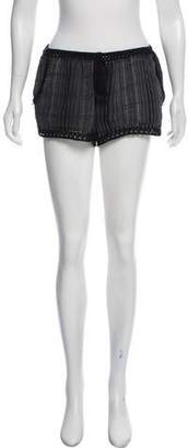 Joie Embroidered Mini Shorts