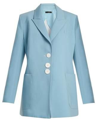 Ellery - Blazing Single Breasted Oversized Blazer - Womens - Light Blue