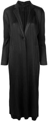 Pleats Please Issey Miyake perfectly fitted coat