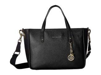 Tommy Hilfiger City Leather - Convertible Tote - Pebble Leather Tote Handbags
