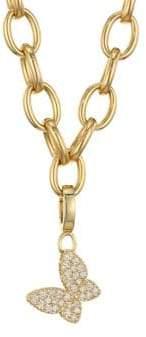 Roberto Coin Princess Charms 18K Yellow Gold& Diamond Butterfly Charm