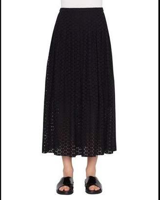 Akris Punto Dot Lace Midi Skirt