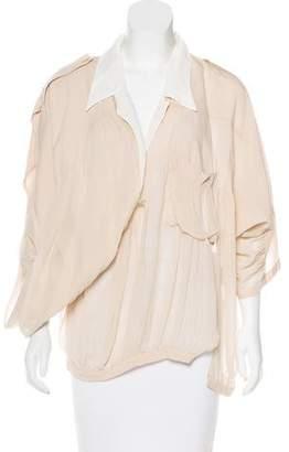 Balenciaga Silk Draped Blouse