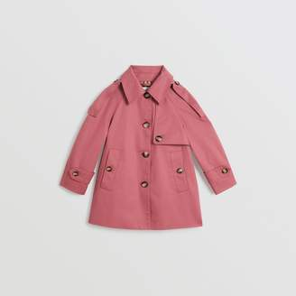 Burberry Childrens Showerproof Cotton Reconstructed Trench Coat