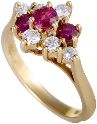 Tiffany & Co. Heritage  18K 0.55 Ct. Tw. Diamond & Ruby Ring