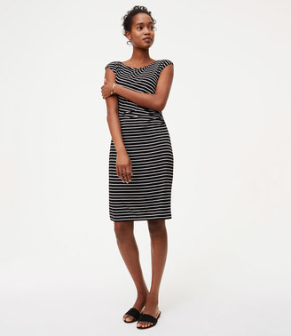 Striped Side Shirred Dress $69.50 thestylecure.com