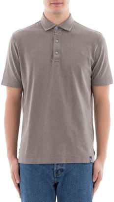Drumohr Grey Cotton Polo