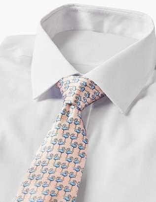 Marks and Spencer Pure Silk Flamingo Print Tie