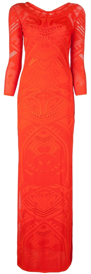 Roberto Cavalli knit maxi dress