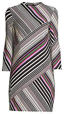 Trina Turk Women's Cocktail Soirée Merry Mixed-Stripe Sheath Dress